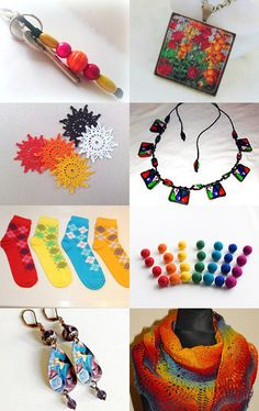 Multicolor gifts on Etsy by decoratore on Etsy--Pinned with TreasuryPin.com