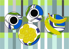 Brazilian Still Life n.2 (with bananas and Biscuits) 2016 Ligia de Medeiros
