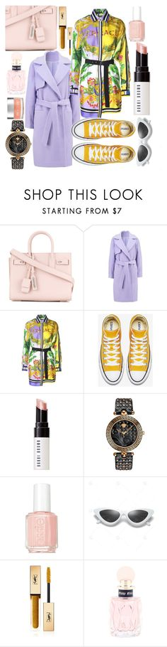 """Untitled #175"" by mistiquelady ❤ liked on Polyvore featuring Yves Saint Laurent, 2nd Day, Versace, Bobbi Brown Cosmetics, Essie, Miu Miu and Sara Happ"