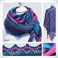 Strickanleitung Lacetuch Magic Stripes / Knitting Pattern Lace Shawl Magic Stripes