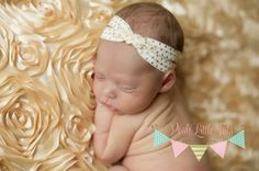 NEW Lucy Gold Dot Headband is adorable with Metallic Gold Polka Dots on an Ivory band and a braided turban center! Perfect for every day wear and