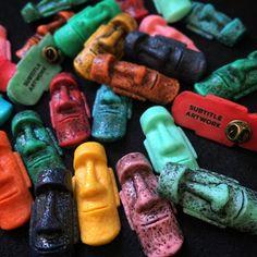 Moai Brooch, handmade in resin. Tiki, Tiki bar, Pin up, Easter Island, Polynesian, Vintage, Retro, pin  by SubtitleArtwork on Etsy https://www.etsy.com/listing/267631385/moai-brooch-handmade-in-resin-tiki-tiki