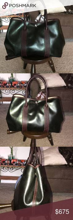 SUPER BUY! GARDEN PARTY TOTE(17x10.5x7) NO TRADES(ONLY GOLD) GENTLY USED! VERY VERY NICE CONDITION! MINOR WEAR ON INTERIOR! HARDLY VISIBLE! MSRP#$3500 Hermes Bags Totes