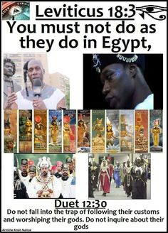 We arent Egyptians we are HEBREW ISRAELITES of the bible.