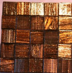 "3/4"" Gold Veined Bronze Venetian Glass Mosaic Tiles (1/2 pound). $4.99, via Etsy."