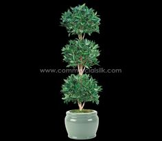 Artificial Topiary Trees - Bayleaf Ball - Commercial Silk Int'l