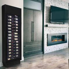 Conserve votre collection de vins à portée de main et facilement accessible! Notre nouveau présentoir à vin sans compresseur permet de voir de l'extérieur, chacune des bouteilles. Renoir, Lockers, Locker Storage, Cabinet, Furniture, Collection, Home Decor, Butler Pantry, Canning