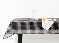 Grid and Rain Table Linens by Sylvain Willenz — ACCESSORIES -- Better Living Through Design