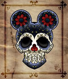 Mickey Mouse sugar skull tattoo