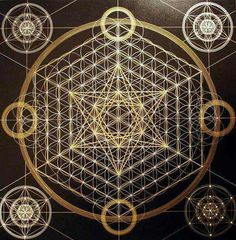 Star of David , or Metatron's cube , Flower of Life...