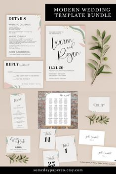 Created with a modern, boho wedding in mind, these abstract wedding invitations come in a template bundle - including the save the date, invitation, RSVP, details insert, menu, program, seating chart, place cards, table numbers, and thank you card. All instant download, self edit, and print on your own (or with our preferred partner!) Modern Wedding Invitation Wording, Wedding Invitation Inserts, Free Printable Wedding Invitations, Wedding Anniversary Invitations, Traditional Wedding Invitations, Floral Wedding Invitations, Invitation Set, Minimalist Invitation, Minimalist Wedding Invitations