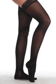 da8dadc7b Juzo Attractive Thigh High w  Silicone Lace Band 15-20mmHg Closed Toe