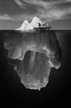 Iceberg Black and White Photography