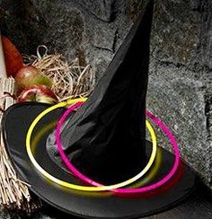witches-hat-glow-stick-toss for games at your Halloween party