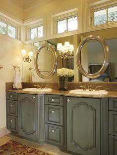 Bathroom Mirror On Mirror my sister's guestroom/nursery | bath, decorating and house