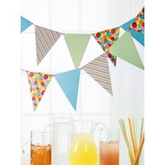 Martha Stewart Crafts® Modern Festive Pennant Garland. And we can add glittery letters to spell out something fun!