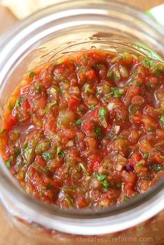 Best Ever, Super Easy Salsa - Loaded with delicious South of the Border flavor, this fresh, vibrant salsa comes together in less than 10 minutes.
