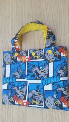 Superhero Tote Bag and Crayon Roll - coloring - Hanukkah gift idea - toddler gift ideas - Christmas presents for kids - holiday party favor by Sewing4Babies on Etsy