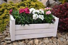 Biala Skrzynka Drewniana Na Kwiaty Ziola 36x13x11cm Plants Garden Decor