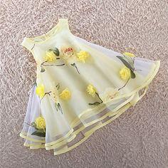 Menina+de+Vestido,Happy-Hour+Floral+Algodão+/+Outros+Verão+/+Primavera+Violeta+/+Amarelo+–+BRL+R$+40,53