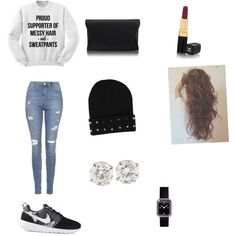 A fashion look from March 2015 featuring Topshop jeans, NIKE sneakers and Chanel watches. Browse and shop related looks.