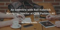 #database RT RalfHaberich: Thanks. RT SMRTR_MARKETING: From Analytics to #CRM: An Interview with Ralf Haberich  http://pic.twitter.com/7zvFsNuuje   Master Database 4u (@MasterDatabase) December 5 2016