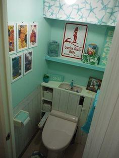 NARUMIさんの作品『ビーチハウスをイメージしたトイレに・・・』   セルフリフォーム.com
