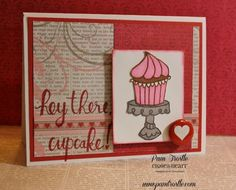 Pam's Crafty Creations: Cutie Pie - Stamp of the Month Blog Hop:  Heartstrings paper,ShinHan Touch Twin Markers.