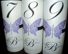 Table Number LUMINARY Towers Butterfly Theme  by evelynne99, $2.55