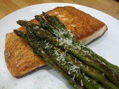 Gluten Free Seared Salmon and Seared Asparagus #Recipe