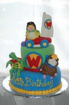 wonder pets cake can anyone make this? Diy 1st Birthday Party, Birthday Cake, Birthday Ideas, Bubble Cake, Wonder Pets, Animal Birthday, Animal Party, Deco, Party Cakes