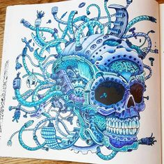 nabbsch #imagimorphia #polychromos #colouring #adultcoloringbook #adultcoloring #colorful