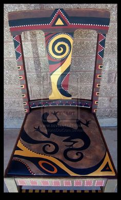 Southwestern Memories Chair by ReincarnationsDotCom.deviantart.com on @deviantART