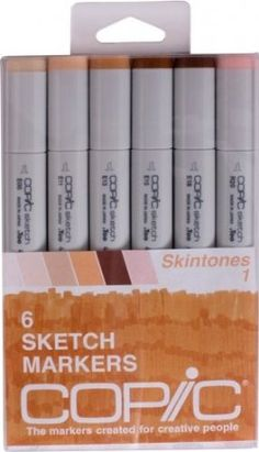 Amazon.com: Copic Markers 6-Piece Sketch Set, Skin Tones I: Arts, Crafts & Sewing