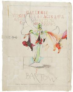 Rick  Bartow. Toshiaki Amarylis, 1997. Drawing, mixed media on paper. 26x21 in.