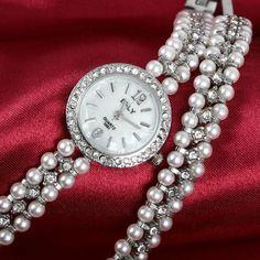 Orologio da donne al quarzo braccialetto ⌚🌷myalleshop Bracelet Watch, Watches, Bracelets, Accessories, Products, Style, Fashion, Swag, Moda