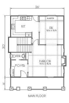 House Plan chp-53322 at COOLhouseplans.com    two story 1500 square foot house 2.5 bathrooms 3 bedrooms