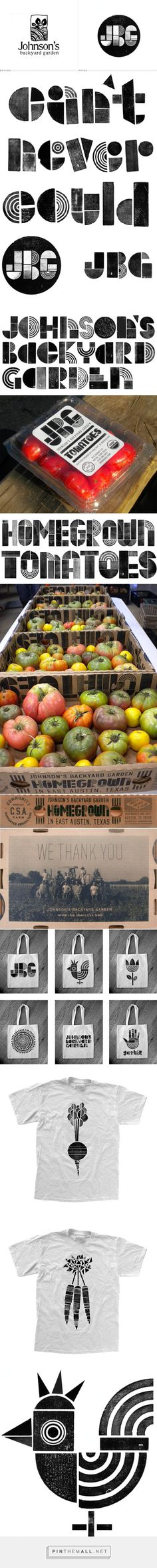 Johnson's Backyard Garden (JBG) packaging branding via UnderConsideration curated by Packaging Diva PD. I want some of these heritage tomatoes now.
