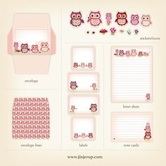 What a cute Idea, printable owl stationery.