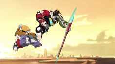 Voltron the Defender of the Universe in battle ready with shield from Voltron Legendary Defender