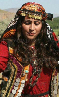 Lurestan costumes Iran traditional persian girl KhoramAbad