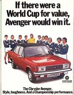 1978 Chrysler and Scotland football team advert.