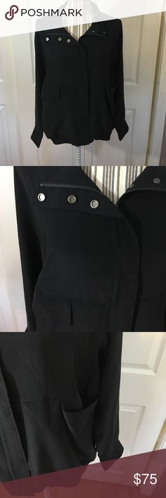 """Eileen Fisher Lighweight Zip Up Sz XS / Missing Fabric Tag / 19.5"""" Armpit to Armpit 24"""" Long.     21 Eileen Fisher Tops"""