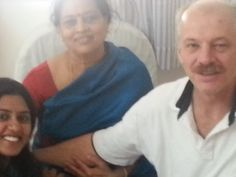 Me Apurva and Guru Mata Amma at her Ashram in Bangalore - India.