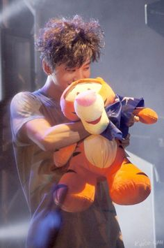 "At first I was like ""look at him with his tigger! He's so cute!"". Then I noticed who muscular his arms were. And fangirled."