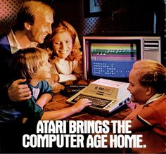 Atari bringing the computer age home! Where is the computer? That looks like a family doing their taxes on a huge calculator in front of a television on the worst program I have ever seen.