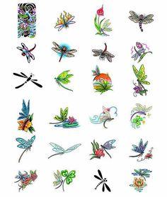 Small dragonfly tattoos @ mom traci Broadaway
