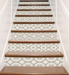 Vinyl Stair Tile Decals – Hacienda Spanish Style Staircase Sticker Decor – Your Choice of Color, Designs and Quantity – Stair Riser Idea Vinyle escalier carrelage autocollants Hacienda par crowbabys Cute Apartment Decor, Tile Stairs, Stairs Vinyl, Tiled Staircase, Stair Stickers, Staircase Makeover, Tile Decals, Stair Risers, Hacienda Style