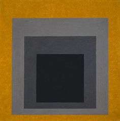 Josef Albers 'Study for Homage to the Square: Grisaille & Gold' 1961 Richard Gray Gallery Josef Albers, Anni Albers, Bauhaus, Hard Edge Painting, Virtual Art, Grisaille, Color Studies, Art Abstrait, Wassily Kandinsky