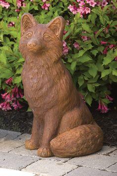 Medium Fox   Massarelli's Cement Statues, Animal Statues, Garden Sculpture, Concrete, Landscape, Medium, Cats, Outdoor Decor, Animals